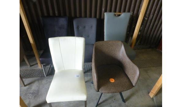 Design stoelen - 5 stuks