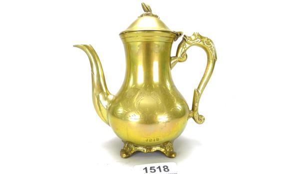 Antieke brons/messing koffiekan