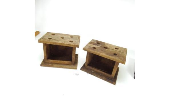 2 houten stoven