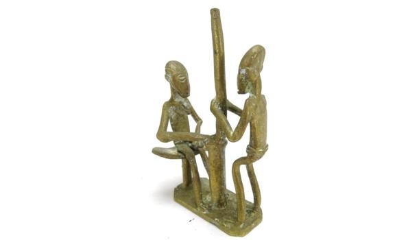 Antiek bronzen vruchtbaarheids beeldje