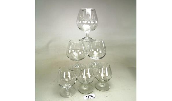 6 Remy Martin cognac glazen