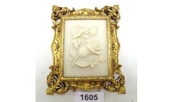 Plaque in barokke lijst
