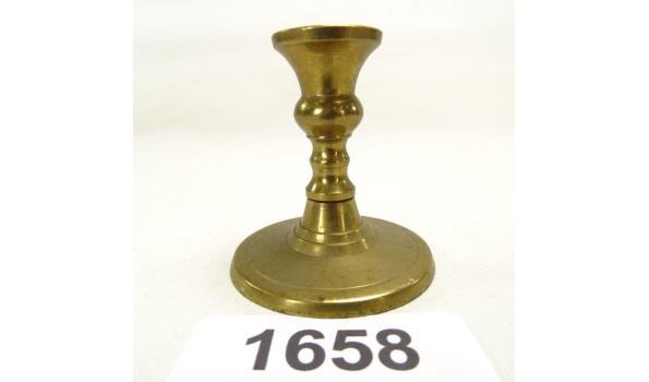 Miniatuur bronzen kandelaar