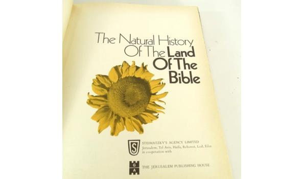The natural history of the land of the bible