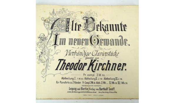 Muziekboek. Vierhandige clavierstucke. Theodor Kirchner