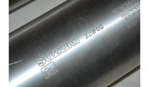 Uitlaatsysteem t.b.v. Suzuki motorfiets
