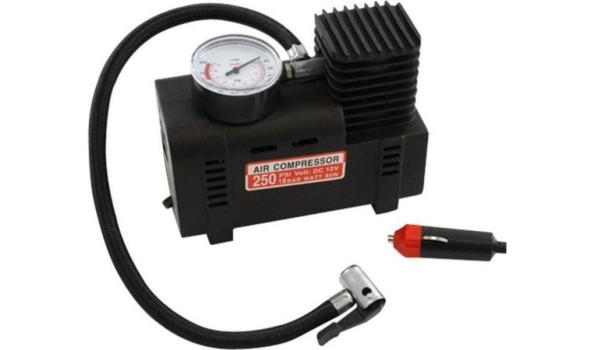 1 Mini luchtcompressor 12 Volt Autolader