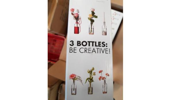 Decoratie flessen hakbijl