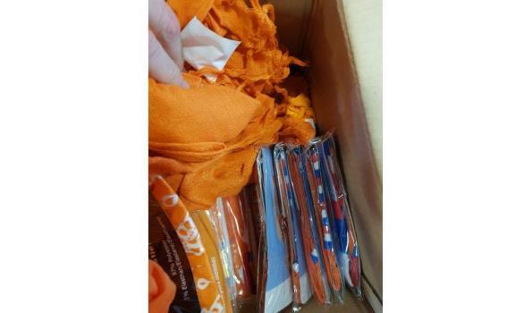 Oranje artikelen mix ca. 50 items