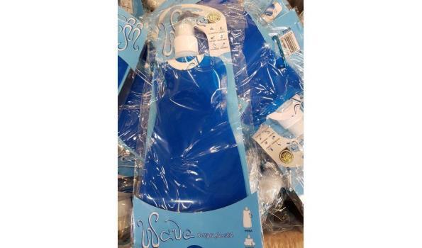 Wave flexibele waterfles blauw ca. 200 stuks
