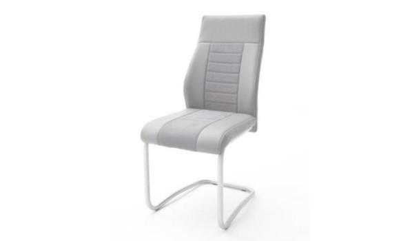 Set van 4 stoelen Tito - kunstleer - grijs