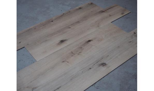 PVC Vloer, 40,6 m2, ruw eiken