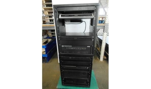 19 inch rack met professionele AV apparatuur