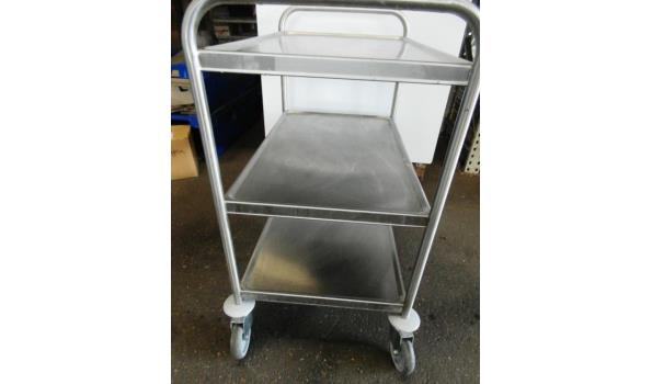 RVS serveerwagen / keukentrolley