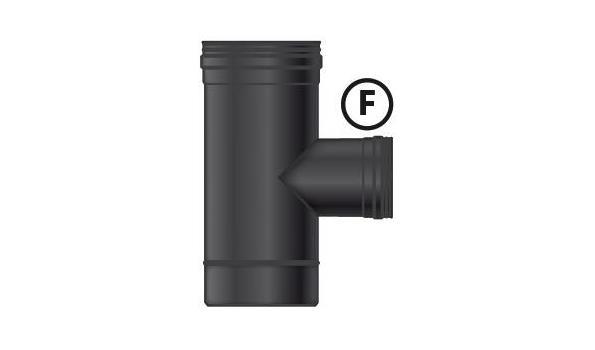 MT EW 100 mm Ø T-stuk 90° verloop naar 80 mm Ø