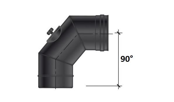 MT EW 100 mm Ø Bocht 90° inspectie - 2 stuks