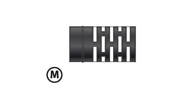 MT EW 80 mm Ø Rechte uitloop M - 3 stuks