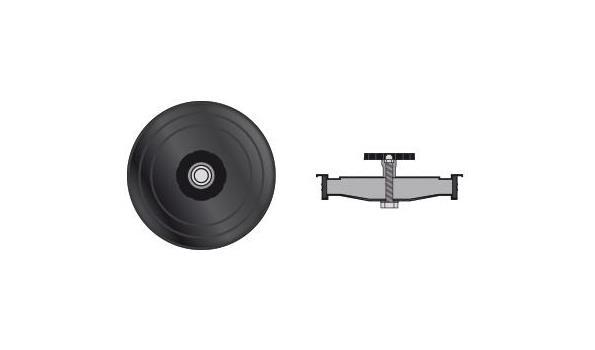 MT EW 100 mm Ø Dop met handwiel - 2 stuks
