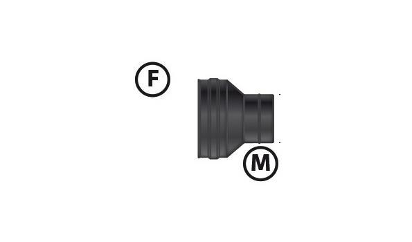MT EW 80 mm Ø Verloop 80 - 100 - 2 stuks