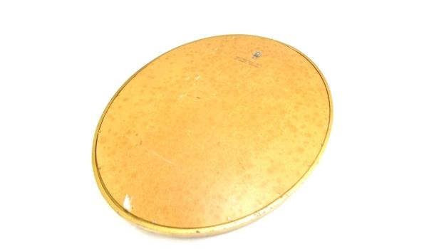 Ovalen spiegel in fraaie vergulde houten lijst