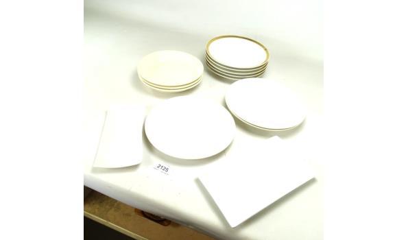 Partij porseleinen borden en schalen