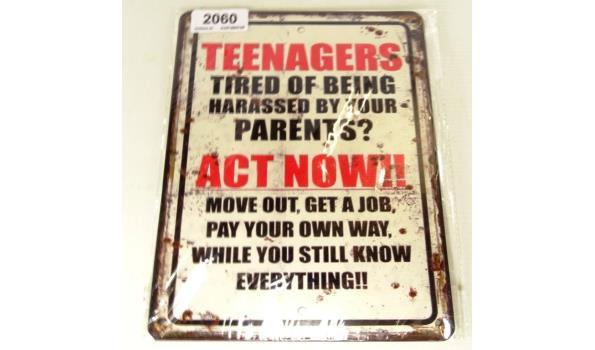 Metalen bord teenagers