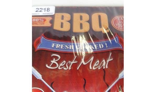 Metalen bord BBQ