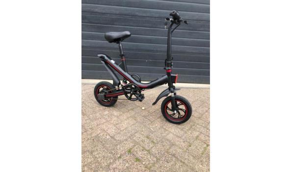Elektrische vouwfiets met pedalen