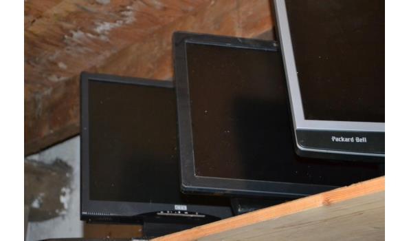 Partij monitoren o.a. Packard Bell - 4 stuks