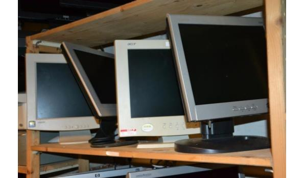 Partij monitoren o.a. Acer - 4 stuks
