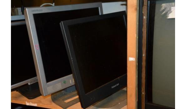 Partij monitoren o.a. HP - 5 stuks