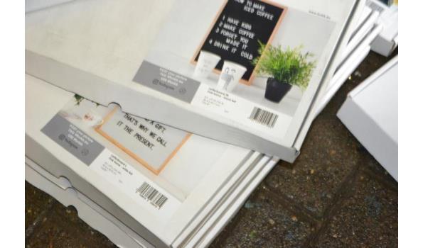 Letterboards - 7 stuks (diverse modellen en maatvoeringen)
