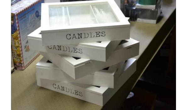 Opbergdoos voor kaarsen - 5 stuks