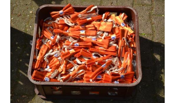 King vlinderdassen, oranje - aantal ca. 400 stuks