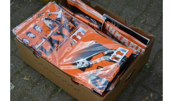 Voetbal/oranje fan T-shirts - aantal ca. 30 stuks