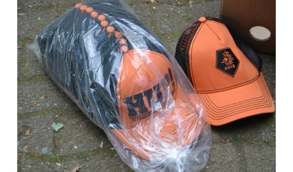 Voetbal/oranje fan T-shirts + Caps - aantal ca. 36 stuks Caps & 15 stuks T-shirts