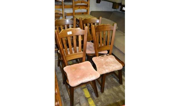 Eikenhouten stoelen - aantal 4 stuks