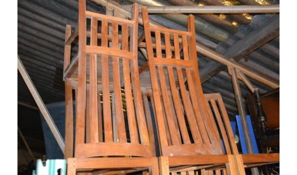 Houten stoelen - aantal 5 stuks
