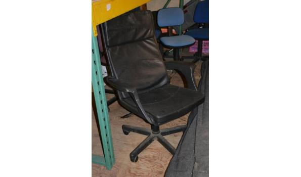 Bureaustoel, kleur zwart (skai) leder