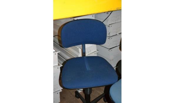 Bureaustoelen, diverse kleuren - aantal 5 stuks