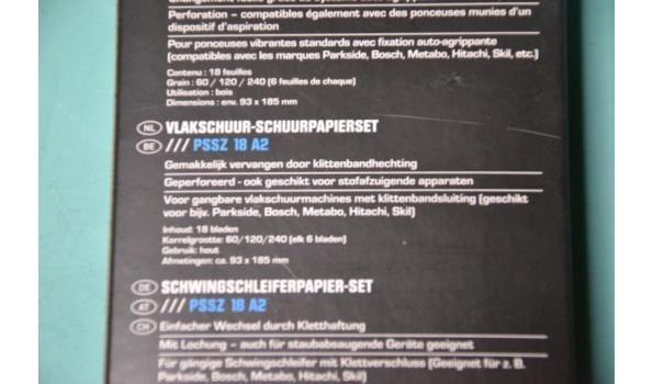 Vlakschuur - Schuurpapierset (5 pakketten)