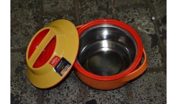 Magnetronbestendige geïsoleerde braadpan - 3 stuks