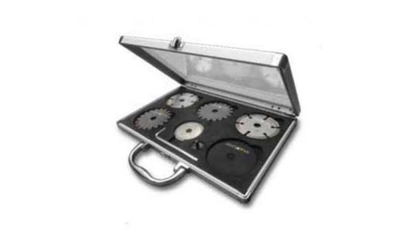 Zaagbladenset voor Precisie Handcirkelzaag in aluminium koffer 6 dlg