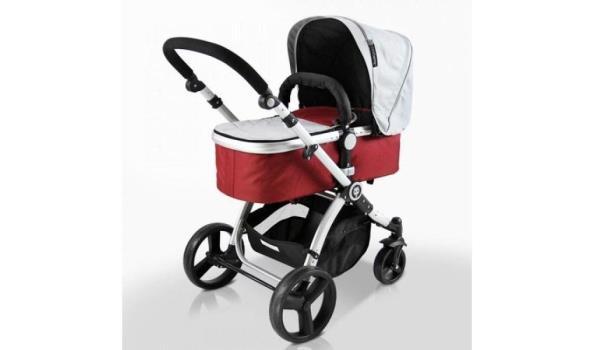 Infantastic combi kinderwagen - 2 in 1 blush rood