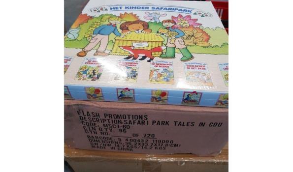 Kinderboekjes het kindersafaripark 1 omdoos