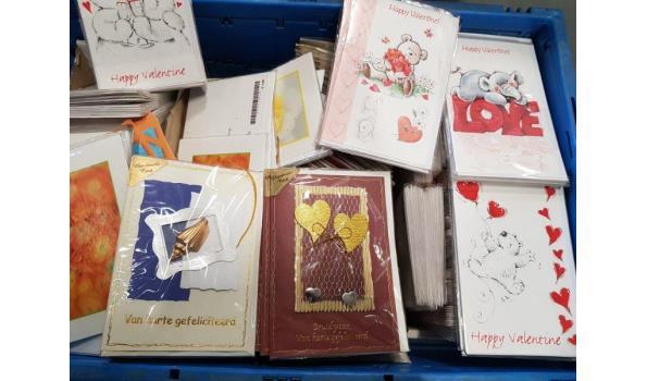 Wenskaarten krat met ca. 400 kaarten