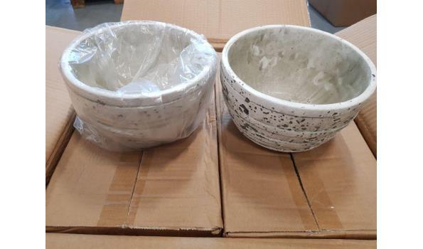 Schalen hakbijl wit 16 stuks