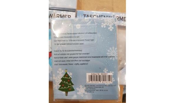 Handwarmers kerst - diverse motieven mix ca. 100 stuks