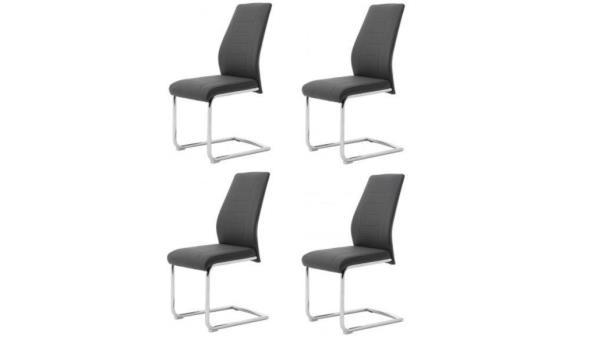 Set van 4 stoelen - bernd grijs