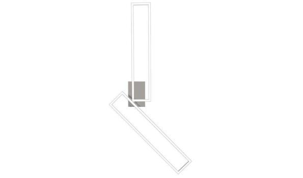Nino Leuchten LIMEA plafondlamp LED zilver 2-vlammig
